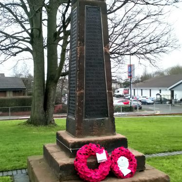 Radford War Memorial, near junction of Engleton Road and Radford Road, Radford, Coventry