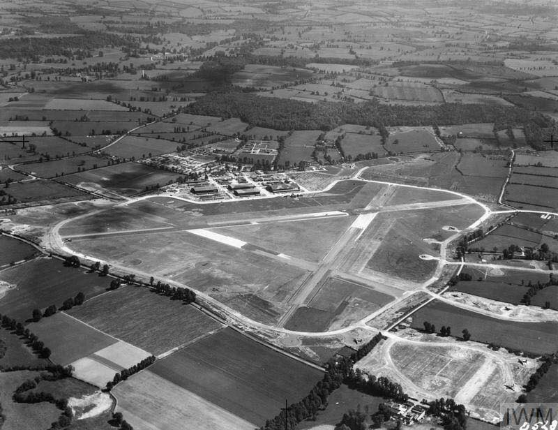 RAF Wellesbourne Mountford. 1943 aerial view, due SSE. | Image supplied by Mick Jones.