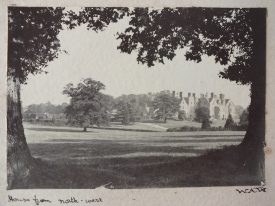 Woodcote, Leek Wootton, from north-west. Taken by Wathen Arthur Waller, circa 1893. | From 'Leek Wootton: Photograph Album belonging to Wathen Arthur Waller 1893-1904'