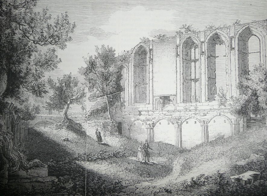 Kenilworth. Great Hall, Kenilworth Castle. | Knight, Charles. 'Old England.' James Sangster & Co. 1845