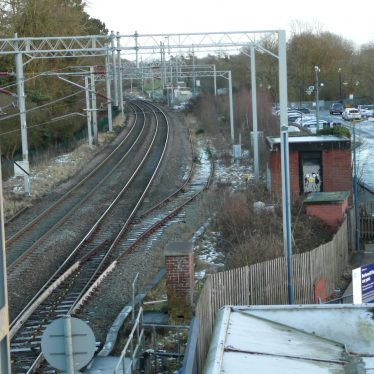 View from the bridge at Berkswell shows the siding that was the line to Kenilworth. | Image courtesy of William Arnold