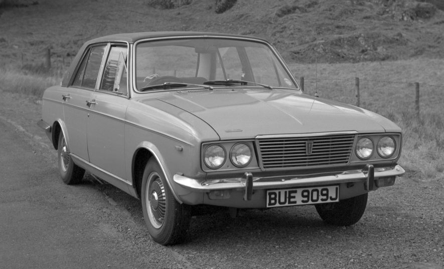 The last model to bear the Humber name, the Humber Sceptre Mark III. Image taken 1972. | Warwickshire County Record Office reference PH882/5/3987