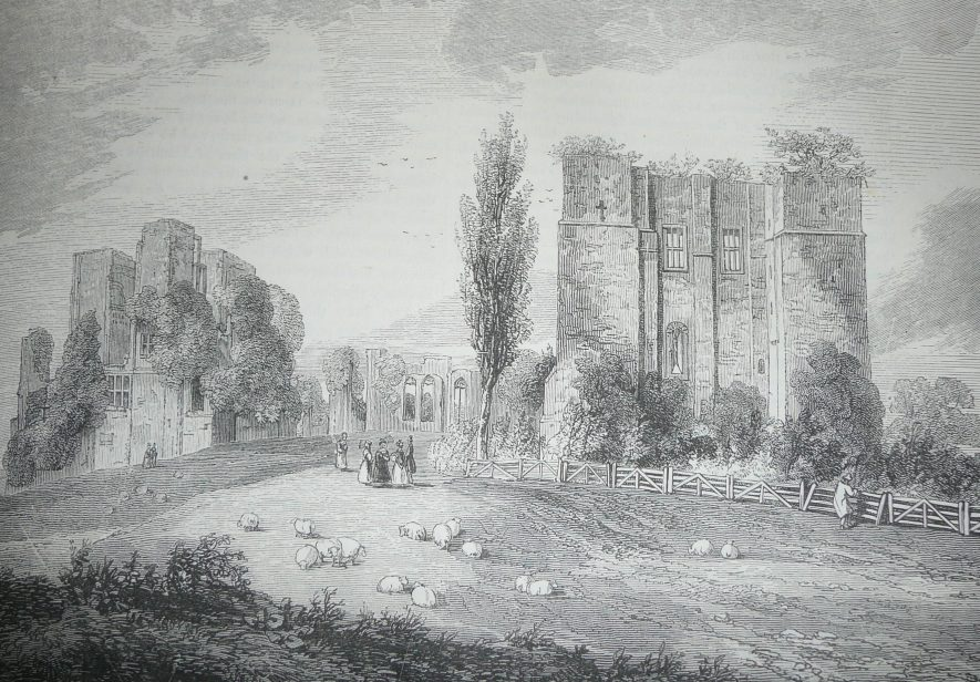 Kenilworth. View of Kenilworth Castle From the Gate-House. | Knight, Charles. 'Old England.' James Sangster & Co. 1845
