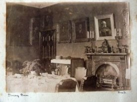 Dining Room, Woodcote, Leek Wootton (c. 1893). | From 'Leek Wootton: Photograph Album belonging to Wathen Arthur Waller 1893-1904'