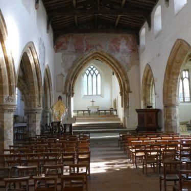 Main interior of All Saints Church, Burton Dassett, 2018. | Image courtesy of Ian Spencer