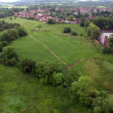 A further aerial shot of Priory Site, Alcester. | Image from the personal collection of Mike Gittus