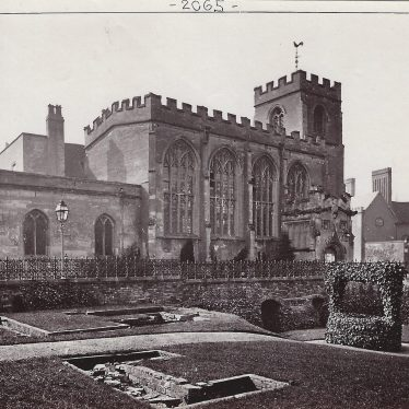 The Guild Chapel from New Place Garden, c.1880. | Albumen print, Francis Bedford (1816-1894), co-founder of the Royal Photographic Society. Supplied by Lindsay MacDonald.