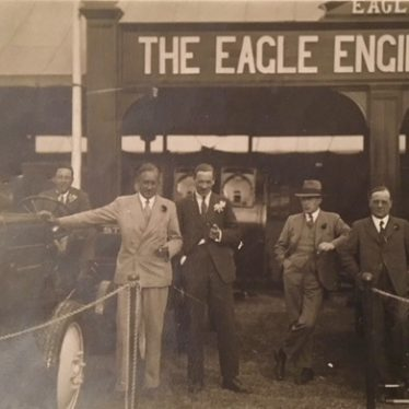 Eagle Engineering. Men and Tractor. | Image courtesy of Susan Dyke
