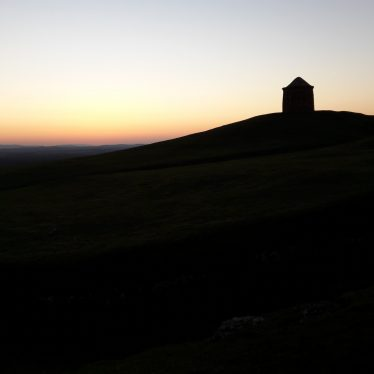 Sunset and a temp of -4c at the Beacon, Burton Dassett, February 2018. | Image courtesy of P. Riley Warwickshire Industrial Archaeology Society