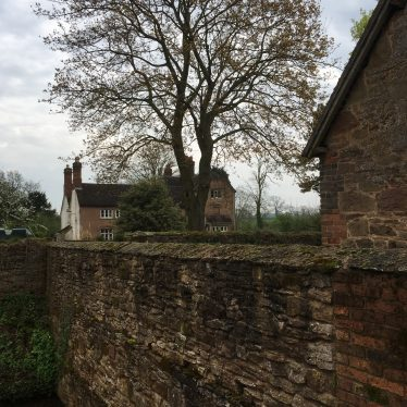 Farmhouse - Moat wall. Whitacre Hall, Nether Whitacre, 2018. | Image courtesy of S Sharp