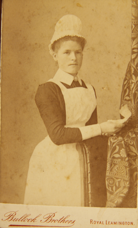 Annie Shaylor, c. 1885, image taken in Leamington. | Image courtesy of Ontario Archives, reference C 176-0-0-12