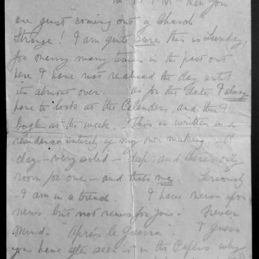 Copy of letter written in pencil to Father and Mother from Jim, 24 Mar - 6 Apr 1918 | Warwickshire County Record Office, reference CR4781/12