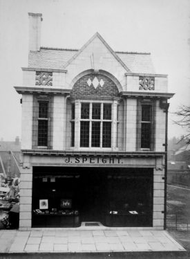 Photograph of the exterior of the Studio, 95 Parade, Sutton Coldfield with J. Speight on shop front | Warwickshire County Record Office reference CR4781/166/1