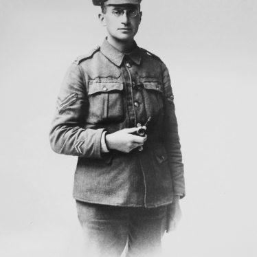 Photograph of James Speight, Corporal Durham Light Infantry, 20 Battalion, 1917 | Warwickshire County Record Office reference CR4781/7