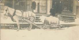 Delivering water in a Cobalt winter. | Image courtesy of  Cobalt Mining Museum