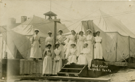 One of the typhoid tent hospitals. Cobalt, 1909. | Image courtesy of Cobalt Mining Museum