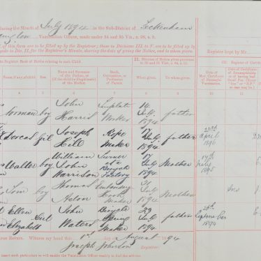 Vaccination Registers, and Septimus Bodger