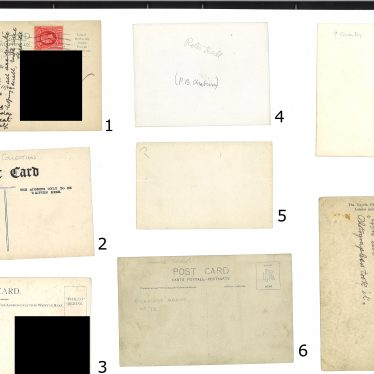 In case the backs of this first set of images helps identify the photos, we've included them too.   Images courtesy of Warwickshire County Record Office