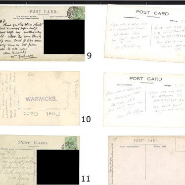 The backs of the second set of postcards might give clues. | Images courtesy of Warwickshire County Record Office