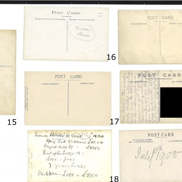 Do the reverse images of the third set of postcards hold any clues? | Images courtesy of Warwickshire County Record Office