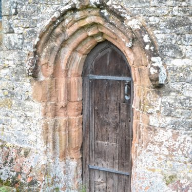 Door, Church of St Giles, Chesterton, 30th April 2018. | Image courtesy of David Collier