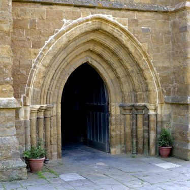 Western Doorway, Church of St Peter, Kineton, 2018. | Image courtesy of Malcolm Fisher