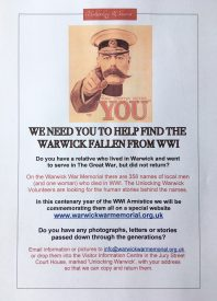 Warwick War Memorial: Finding the Stories Behind the Names