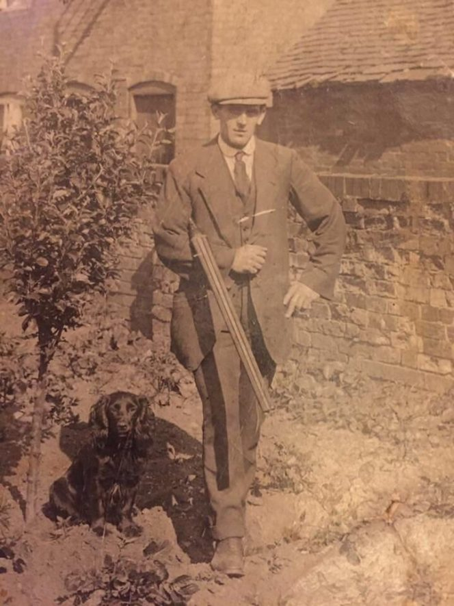 A photo, probably of George Kenney, head game keeper of Wolston Manor House. | Image courtesy of Paul Kenney