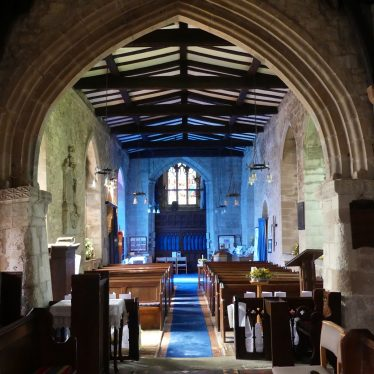 Looking back towards the Nave, St Gregory's, Offchurch, 2018. | Image courtesy of Caroline Irwin