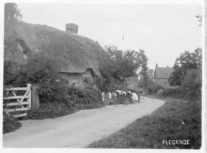 Postcard of Wash Day at Flecknoe, c.1910 | Image supplied by Pam Taylor