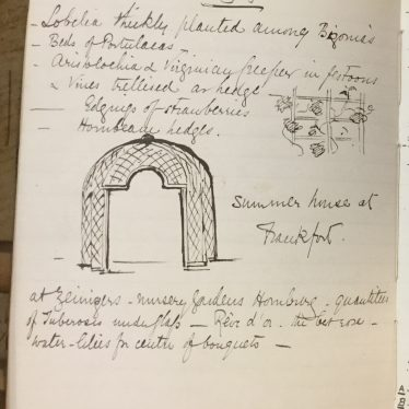 A page from Anne Greville's notebook. | Warwickshire County Record Office reference CR1886 Box 474 (loose)