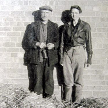 Ted Betteridge, one of the farm workers at Bickmarsh Hall farm, and Joan Galloway. 1940s. | Image courtesy of Joan Broscomb