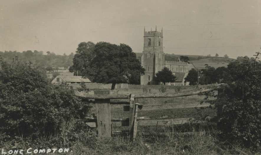 Long Compton. Church of St Peter & St Paul, nd.   Image courtesy of Richard Ratcliffe. Warwickshire County Record Office reference PH1318A/10