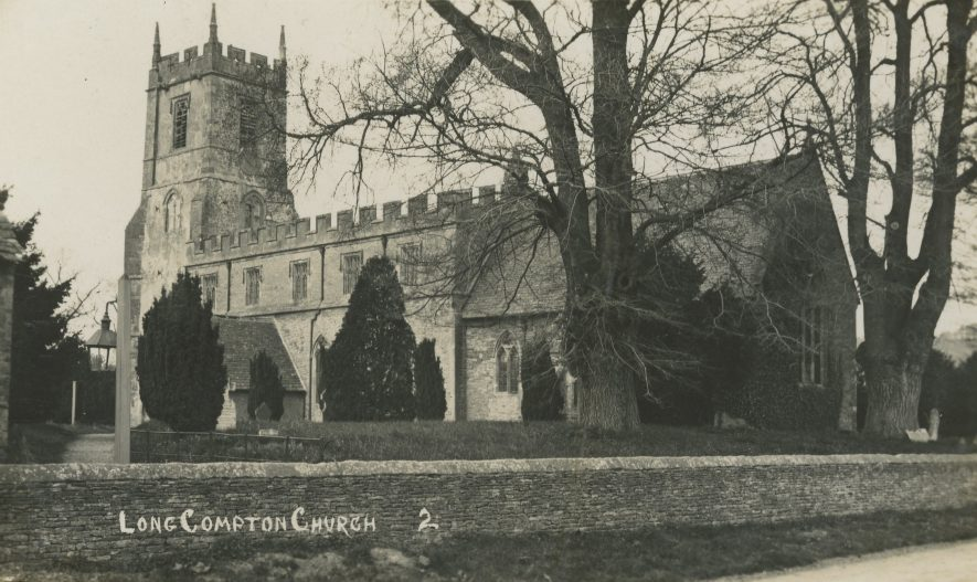 Long Compton. Church of St Peter & St Paul, 1929. | Image courtesy of Richard Ratcliffe. Warwickshire County Record Office reference PH1318A/11