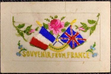 A First World War Embroidered Postcard Sent to Warwick