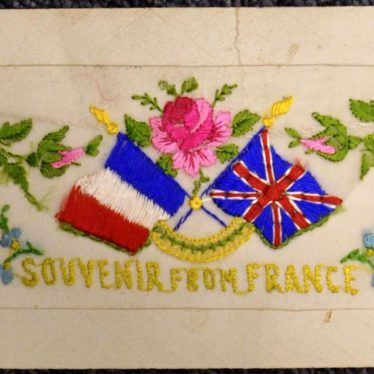 A First World War Embroidered Postcard Sent to Warwick