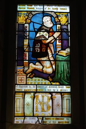 Image of Nicholas Brome in the East Window of St. Michael's Church | Image courtesy of Anne Elliott