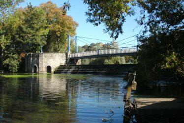 The Mill Suspension Bridge, Leamington. A Wishing Weir Perhaps?