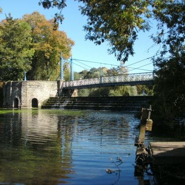 The Mill Suspension Bridge, Leamington. A Wishing Weir Perhaps?