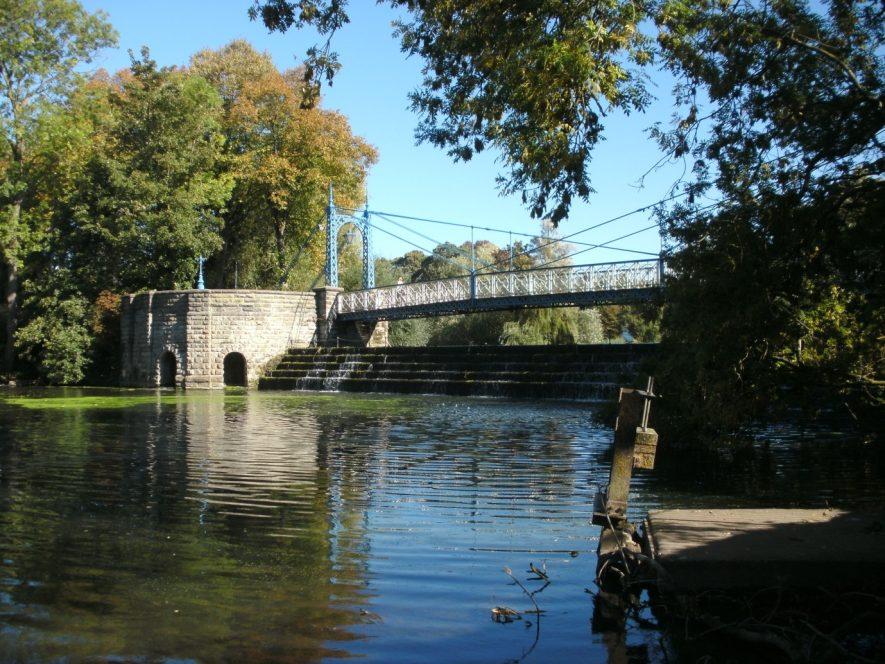 The Mill Suspension Bridge , 2018. | Image courtesy of Richard Neale