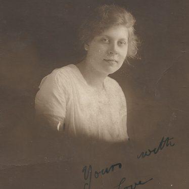 Ladbroke. Dora Baker at 16-17 years old.   Image courtesy of Jo Lowrie