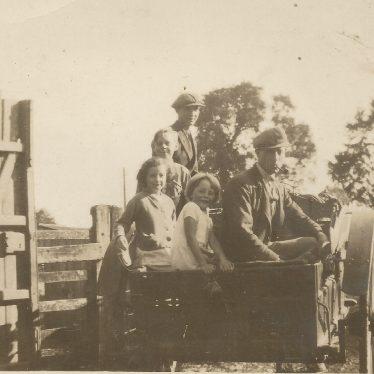 Ladbroke.  Family in Farm Cart