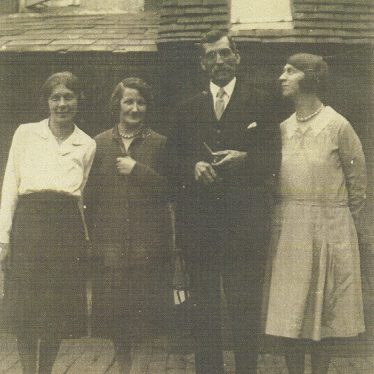 Dora Taylor (nee Baker) on left with her Aunt Mary and Uncle George and 2nd sister Lucy Lucas nee Baker 1919-1920. | Image courtesy of Jo Lowrie