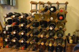 The mead takes its place on the wine rack, to lay down for a few years | Photograph by Beck Hemsley