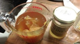 Honey for homebrew mead. Yum - mead involves a lot of honey! | Photograph courtesy of Beck Hemsley