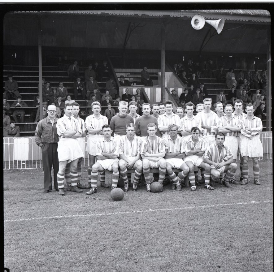 Nuneaton Borough pre-season trial August 18th, 1957 | Warwickshire County Record Office reference PH882/12/137