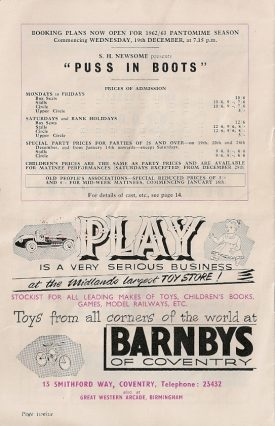 A Christmas Pantomime and an advert for Barnbys. What could be more festive? | Originally posted to flickr by Bradford Timeline