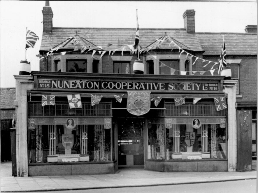 Attleborough Co-op, 1953 | Image courtesy of Heart Of England Co-op, supplied by Nuneaton Memories