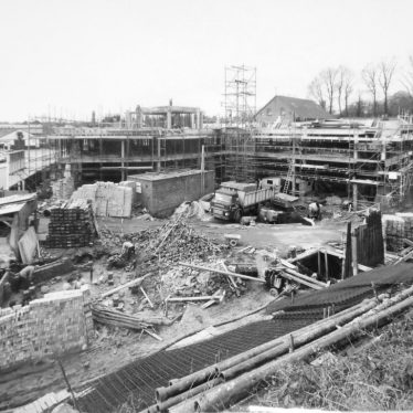 Warwick.  Brooks House, During Construction
