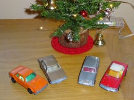 Some toy cars from childhood, recalling Christmas gifts from days gone by. | Image courtesy of Benjamin Earl